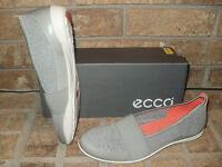 Ecco Bluma Band Leather/fabric Slip-on Shoe/ Wild Dove-concrete $100