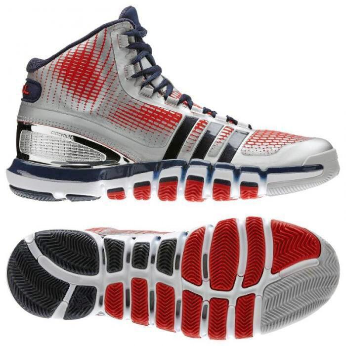 Adidas Schuhe Adipure Crazyquick Basketball  Schuhe Adidas Turnschuhe Gr 44-53 silber-blau-rot dbad52