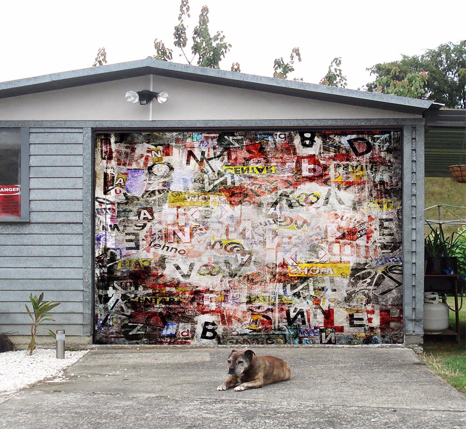 3D Fuzzy graffiti Garage Door Murals Wall Print Decal Wall Deco AJ WALLPAPER UK
