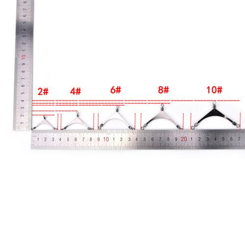 10XAmerikanischer Fisch Rolling Pole Swivel 3way Edelstahl Angelkopf Wirbel RSPF