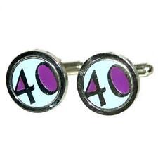 Stylish Milestone Age 40 Cufflinks BNIB X2PSC070