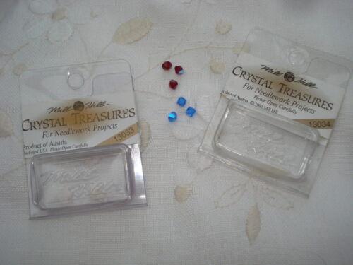 7 mixed packs beads Mill Hill Crystal Treasures