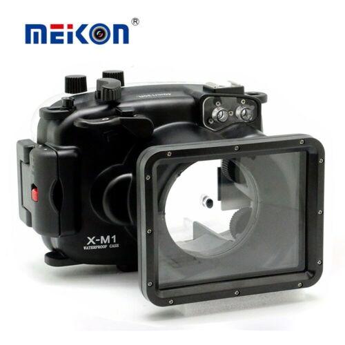 Cámara subacuática Meikon 40m//130ft impermeable de la vivienda para Fujifilm Fuji X-M1 XM1