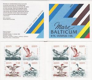 Sea-Birds-Mare-Balticum-Estonia-Mint-MNH-Stamp-Booklet-1992
