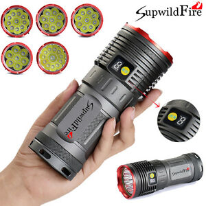 New-Supwildfire-35000LM-12-x-XM-L-T6-LED-Waterproof-Hunting-Flashligt-Torch-Lamp
