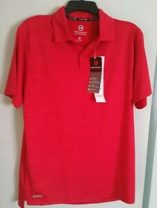 FREE-COUNTRY-MEN-039-S-POLO-SHIRT-SIZE-SMALL-COLOR-TANGO-RED-HEATHER-NWT