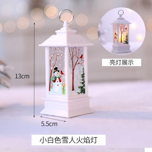 Christmas Santa Claus LED Lamp Home Light Flame Decoration Light Home Decor aa