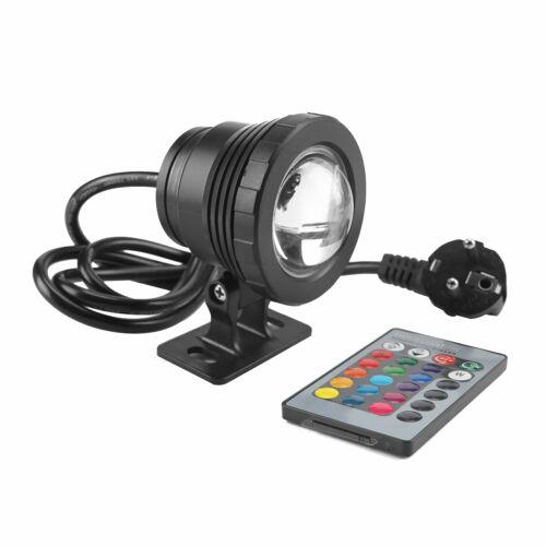 10W RGB LED Aquarien Unterwasser Strahler Teichbeleuchtung Garten Lampe HS DE