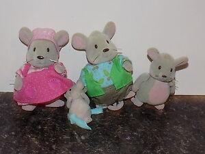 Woodzeez families Mouse family of 4