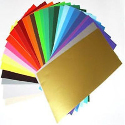 100 x A4 SLIGHT SECONDS MIXED COLOURS SELF ADHESIVE SIGN VINYL