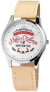 Excellanc-Damenuhr-Weiss-Beige-Merry-Christmas-Happy-New-Year-X-1900095-002