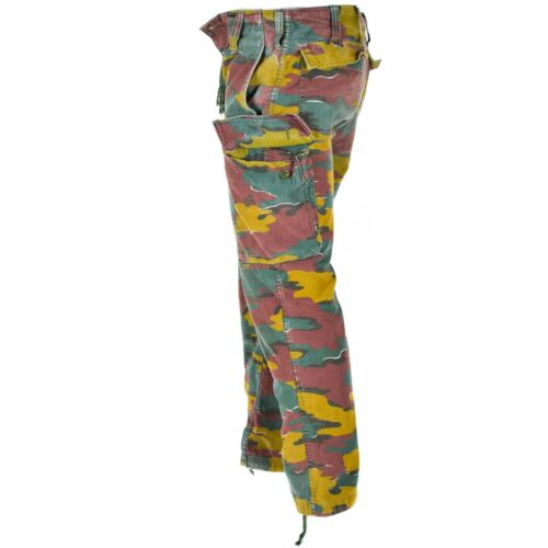 Original Belgian army military combat M90 field pants JIGSAW trousers surplus