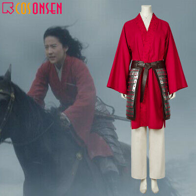 Movie Mulan 2020 Hua Mulan Cosplay Costume Women Fancy Dress Outfit Halloween Ebay