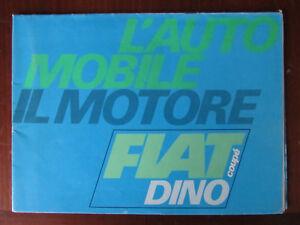 Fiat Dino 2000 Coupè Prospectus-afficher Le Titre D'origine MatéRiaux De Haute Qualité