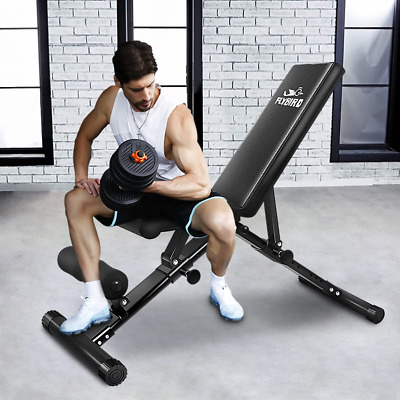 weight bench adjustable strength training exercise bench