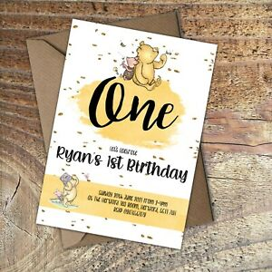 BIRTHDAY-INVITATIONS-First-Birthday-Winnie-the-Pooh-Personalised-Any-age-PK-10