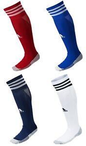 Adidas Adisocks 18 Soccer Stocking Pairs Socks White Navy Red Knee ... 3026b6e0c38
