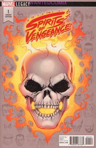 MCKONE LEGACY HEADSHOT VARIANT COVER GHOST RIDER SPIRITS OF VENGEANCE #1 OF 5