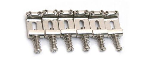 Allparts® Bent Steel Vintage Style Saddle Set~11.2mm Wide-2 1/4~Chrome~Brand New