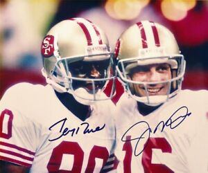 Joe-Montana-Jerry-Rice-Autographed-Signed-8x10-Photo-HOF-49ers-REPRINT