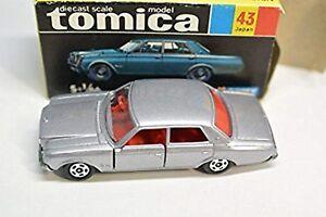 Tomica-43-Toyota-Century-1E-Vecchio-Ruota-Grigio-Fatto-in-Giappone-Scatola-Nera