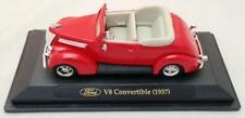 Die Cast Fairfield Mint Red 1937 Ford V8 Convertible 1:43 MIB O Scale
