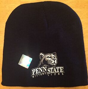 New Penn St State BEANIE Blue Stocking Winter Knit Cap Nittany Lions ... 4560961ca84