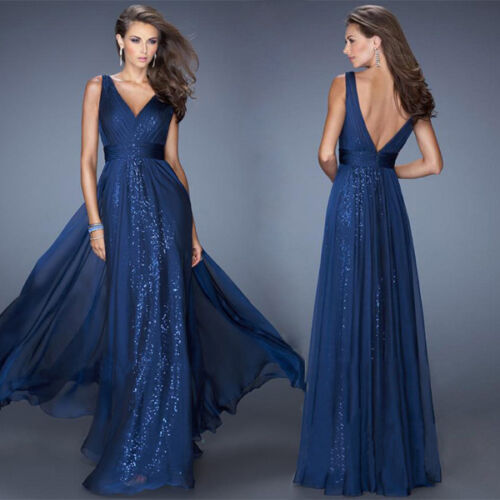 Women Formal Prom Dresses Cocktail Party Ball Gown Evening Bridesmaid Long Dress