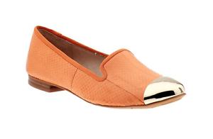 Sam Sam Sam Edelman Women's Orange Snakeskin Aster Flats 5145 Sz 6.5 M 06f391