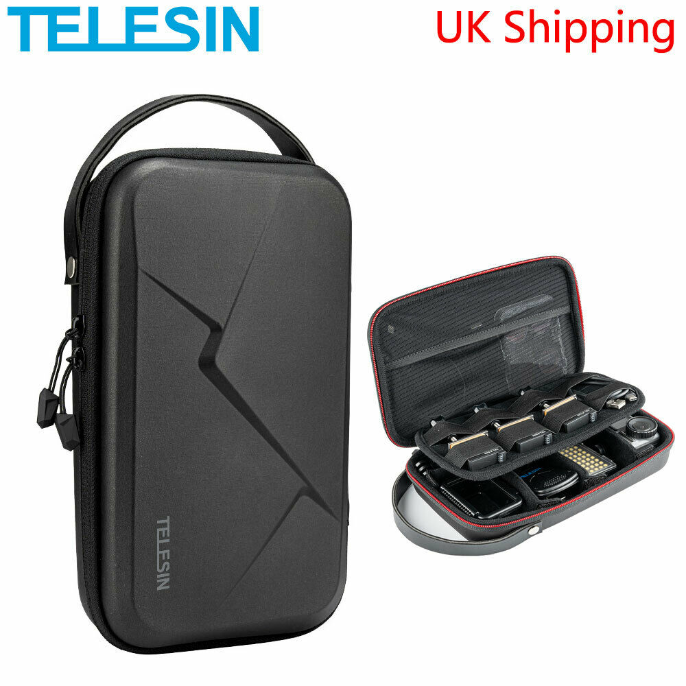 TELESIN Storage Bag Waterproof Travel Carrying PU Case For GoPro Osmo Action