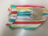Scooter's Friends Dog Sleeveless Coat Sherbet Striped 12