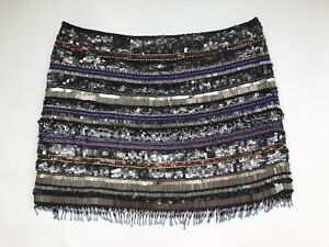 4a80325f7ff Image is loading PARKER-034-Corsica-034-Black-Multicolor-Beaded-Sequin-