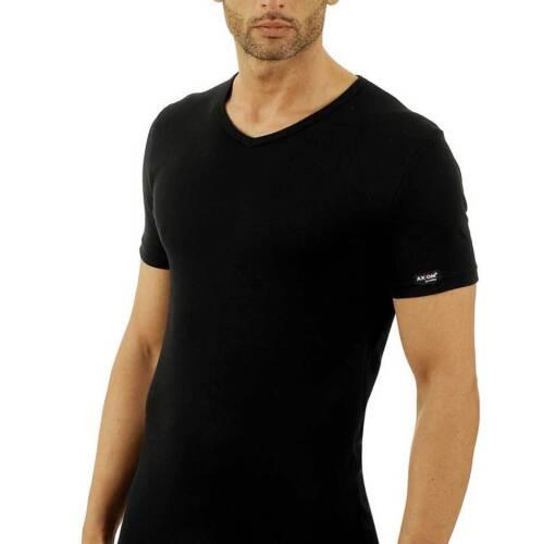 6 T-shirt uomo Axiom manica corta scollo a V in cotone elasticizzato art 345311