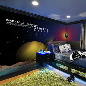 3d Espace Planete 9 Photo Papier Peint En Autocollant Murale Plafond
