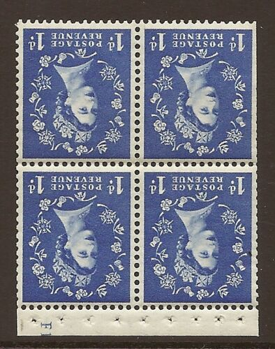 SB34 1d Crowns left Wilding booklet pane perf type I Cyl F12 UNMOUNTED MNT