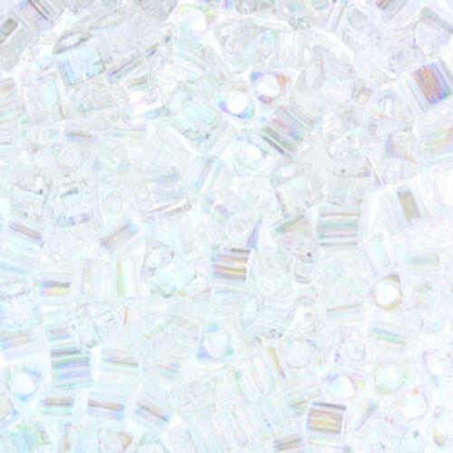 15 GRAMS Miyuki Sharp Triangle BeadsGlass Seed Beads-Size 8//0 CHOOSE COLOR!