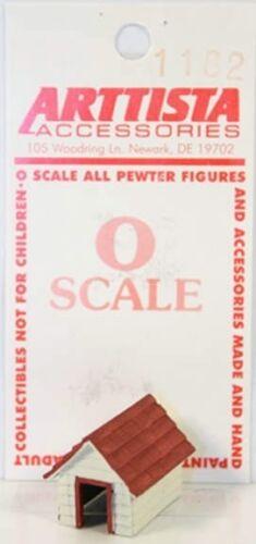 Arttista/Dollhouse Miniature Dog House #1182 -- 1:48 / O Scale / Quarter Scale
