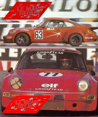 Calcas Porsche 911 Carrera Rsr Le Mans 1976 1:32 1:43 1:24 1:18 Slot Decals