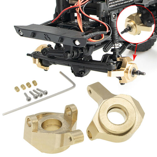 Brass Steering Knuckle Set For RC 1//10 Axial SCX24 AXI00001 AXI00002 AXI90081