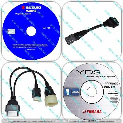 SUZUKI and YAMAHA Outboard Diagnostic CABLE KIT Wave runner Jet boat