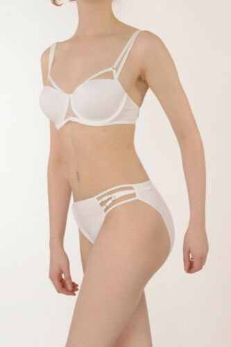 """Marlies Dekkers Undressed White /""""Move/"""" Brief Style 74921"""