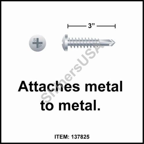 10 x 3 Phillips Pan Head Zinc Plated Self Drilling TEK Screw #137825 1000