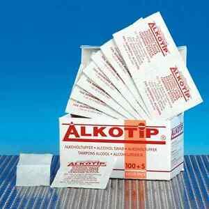 Einzeln Verpackt Tupfer #4863 Instrumente, Sets & Zubehör Medizin & Labor Sanft Alkoholtupfer Alkotip 100+5 Stk
