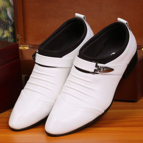 2019 Men/'s Formal Wedding Oxfords Casual Leather Shoes Pointed Toe Dress Shoes