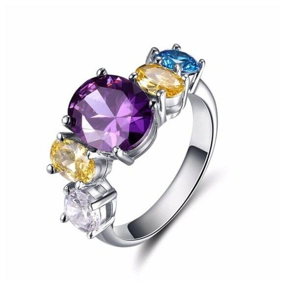 S6 Made Using Swarovski Crystals Crystals The Jamia colorful Ring  115