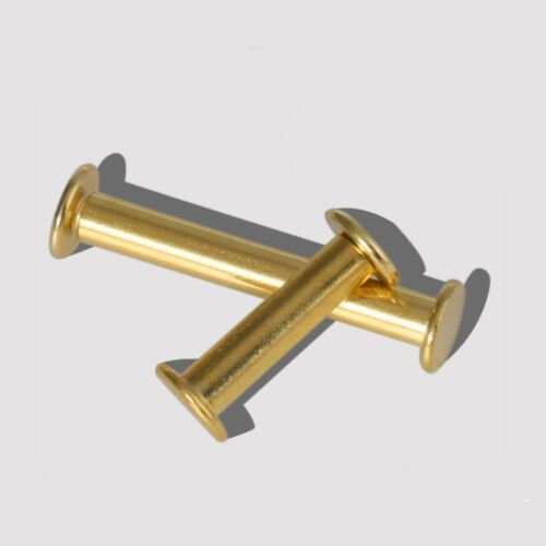 5mm Brass-plated  Posts Binding Screws for Albums Scrapbooking Leather