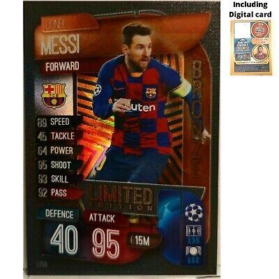Match Attax 2019//20 Edición Limitada Lionel Messi FC Barcelona Bronce LE5B