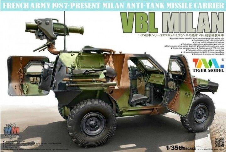 Tiger Modello 1 35 Francese Vbl con Milan Anti-carro Lanciatore Missile  4618