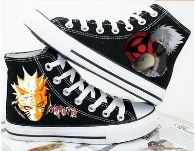 Uzumaki Naruto Anime Sneaker Freizeitschuhe Sportschuhe Schnürer Canvas unisex