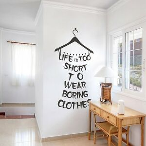 Image Is Loading Life Too Short Wall Sticker Inspiration Quote